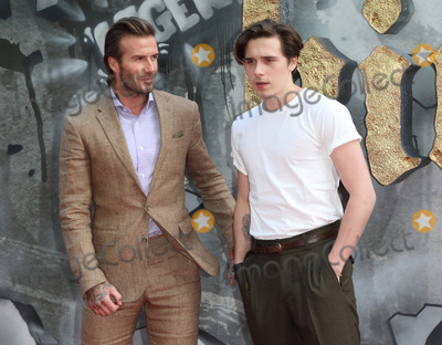 Brooklyn Beckham Photo - London UK David Beckham and Brooklyn Beckham at  King Arthur Legend of the Sword - European film premiere at the Cineworld Empire Leicester Square London on May 10th 2017  Ref LMK73-J287-110517Keith MathewlLandmark MediaWWWLMKMEDIACOM