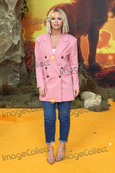 Kimberley Walsh Photo - London UK Kimberley Walsh at European Premiere of Disneys The Lion King at the Odeon Luxe cinema Leicester Square London on July 14th 2019Ref LMK73-J5182-150719Keith MayhewLandmark MediaWWWLMKMEDIACOM