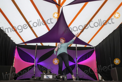 Angela Barnes Photo - Southwold Suffolk Comedian Angela Barnes presenter of Radio 4s Newsjack and Mock the Week regular performs in the Comedy Arena on the first day of the 2018 Latitude Festival  at Henham Park near Southwold Suffolk 13th July 2018Ref LMK73-J2315-160718Keith MayhewLandmark MediaWWWLMKMEDIACOM