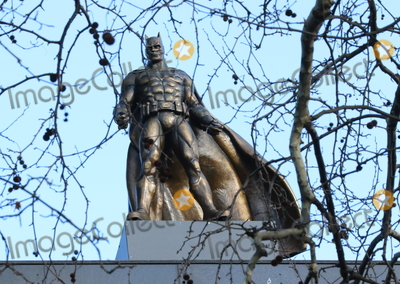 Leicester Square Photo - London UK Batman statue at Launch of a trail of cinematic bronze statues - Scenes in the Square in Londons Leicester Square celebrating the locations rich history as the home of film and marking the squares 350th anniversary February 27th 2020Ref LMK73-J6288-280220Keith MayhewLandmark Media  WWWLMKMEDIACOM