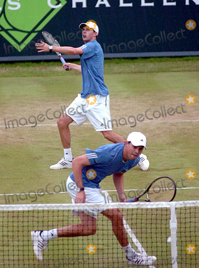 Mike Bryan Photo - Buckinghamshire UK Bob Bryan and Mike Bryan at The Boodles Challenge tennis tournament at The Stoke Park Club  21st June 2008Andy LomaxLandmark Media