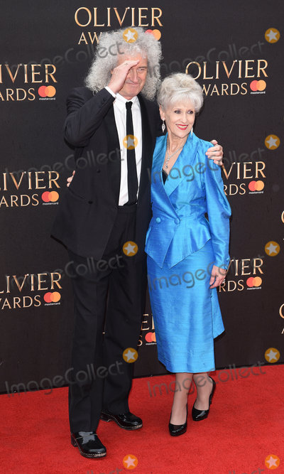 Anita Dobson Photo - London UK Brian May and Anita Dobson at The Olivier Awards 2018 held at The Royal Albert Hall Kensington Gore South Kensington London on Sunday 8 April 2018Ref LMK392-J1868-090418Vivienne VincentLandmark Media WWWLMKMEDIACOM