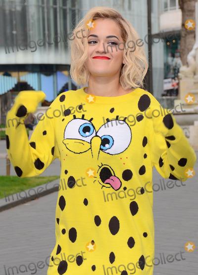 Spongebob Squarepants Photo - London UK 310314Rita Ora in Leicester Square wearing a Spongebob Squarepants outfit to release balloons into the sky in celebration of her latest single I Will Never Let You Down 31 March 2014Ref LMK392-48021-030414Vivienne VincentLandmark MediaWWWLMKMEDIACOM