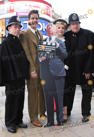 Alfred Hitchcock Photo - London UK  The cast of The 39 Steps Stephen Ventura John Hopkins Natalie Walter and Stephen Critchlow  at a photocall to launch a nationwide hunt to discover Britains best Alfred Hitchcock lookalike at the Criterion Theatre Piccadilly  23rd November 2009Keith MayhewLandmark Media