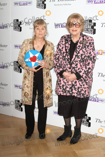 Antonia Fraser Photo - London UK  Dame Antonia Fraser (L) and Kate Atkinson with the Literature  Award at the  South Bank Sky Arts Awards Press room  at the Dorchester Hotel Park Lane on 27th January  2014  RefLMK73-46488-280114 Keith MayhewLandmark Media WWWLMKMEDIACOM