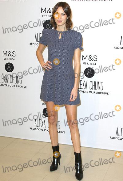 Alexa Chung Photo - London UK Alexa Chung at the photocall for the launch of  her new  collection for Marks  Spencer  at MS Marble Arch London UK 13 April 2016Ref LMK394-60179-130416Brett CoveLandmark Media WWWLMKMEDIACOM