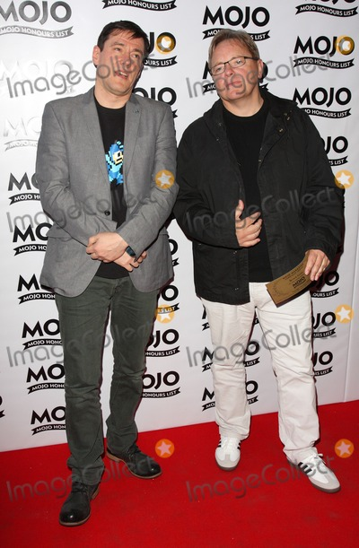 New Order Photo - London  UK Bernard Sumner and Stephen Morris of New Order at the Mojo Honours List Awards 2009 held at the Brewery Chiswell Street in  London 11th June 2009 Keith MayhewLandmark Media