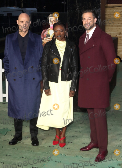 Andi Osho Photo - London UK Mark Strong Andi Osho and Zachary Levi at Shazam Supercharged Funfair Launch at the Bernie Spain Gardens South Bank London on Wednesday March 20th 2019Ref LMK73-J4557-210319Keith MayhewLandmark MediaWWWLMKMEDIACOM