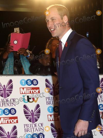 Prince William Photo - London UK HRH Prince William Duke of Cambridge at Pride Of Britain Awards held at Grosvenor House Park Lane London UK on the 30th October 2017 Ref LMK73-J1030-311017Keith MayhewLandmark MediaWWWLMKMEDIACOM