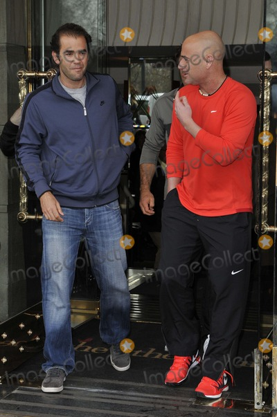 Andre Agassi Photo - London UK   Pete Sampras and Andre Agassi attend the World Tennis Day Showdown press conference photocall The Athenaeum Hotel Piccadilly 3rd March  2014  RefLMK315-44817-030314  Can NguyenLandmark Media WWWLMKMEDIACOM