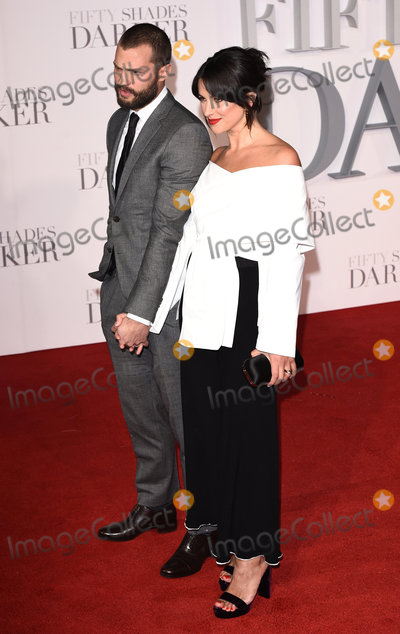 Amelia Warner Photo - London UK Jamie Dornan and Amelia Warner at the Fifty Shades Darker Premiere held at Odeon Leicester Square London on Thursday 9 February 2017Ref LMK392-61655-100217Vivienne VincentLandmark Media WWWLMKMEDIACOM