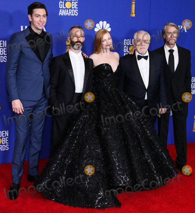 Alan Ruck Photo - BEVERLY HILLS LOS ANGELES CALIFORNIA USA - JANUARY 05 Nicholas Braum Jeremy Strong Sarah Snook Brian Cox and Alan Ruck pose in the press room at the 77th Annual Golden Globe Awards held at The Beverly Hilton Hotel on January 5 2020 in Beverly Hills Los Angeles California United States (Photo by Xavier CollinImage Press Agency)