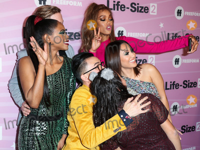 Allison Fernandez Photo - HOLLYWOOD LOS ANGELES CA USA - NOVEMBER 27 Shanica Knowles Gavin Stenhouse Tyra Banks Hank Chen Allison Fernandez Francia Raisa at the World Premiere Of Freeforms Life-Size 2 held at The Hollywood Roosevelt on November 27 2018 in Hollywood Los Angeles California United States (Photo by Xavier CollinImage Press Agency)