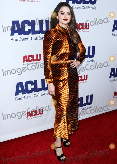 Selena Gomez Photo - BEVERLY HILLS LOS ANGELES CALIFORNIA USA - NOVEMBER 17 Singer Selena Gomez wearing Prada arrives at the ACLU SoCals Annual Bill Of Rights Dinner 2019 held at the Beverly Wilshire Four Seasons Hotel on November 17 2019 in Beverly Hills Los Angeles California United States (Photo by Xavier CollinImage Press Agency)