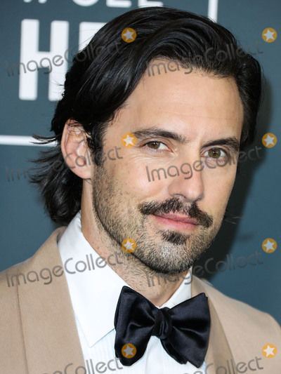 Milo Ventimiglia Photo - SANTA MONICA LOS ANGELES CALIFORNIA USA - JANUARY 12 Actor Milo Ventimiglia wearing Brunello Cucinelli arrives at the 25th Annual Critics Choice Awards held at the Barker Hangar on January 12 2020 in Santa Monica Los Angeles California United States (Photo by Xavier CollinImage Press Agency)