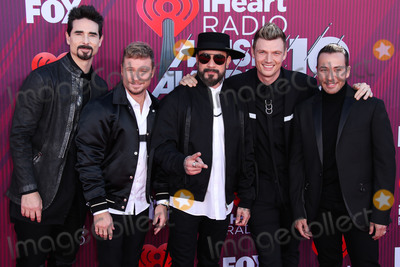 Nick Carter Photo - LOS ANGELES CA USA - MARCH 14 AJ McLean Kevin Richardson Nick Carter Howie Dorough and Brian Littrell of Backstreet Boys arrive at the 2019 iHeartRadio Music Awards held at Microsoft Theater at LA Live on March 14 2019 in Los Angeles California United States (Photo by Xavier CollinImage Press Agency)