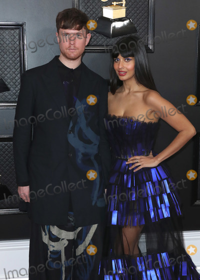 Jameela Jamil Photo - LOS ANGELES CALIFORNIA USA - JANUARY 26 James Blake and Jameela Jamil arrive at the 62nd Annual GRAMMY Awards held at Staples Center on January 26 2020 in Los Angeles California United States (Photo by Xavier CollinImage Press Agency)
