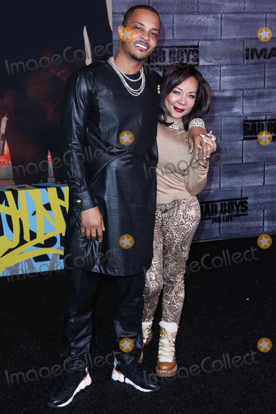 TI Photo - HOLLYWOOD LOS ANGELES CALIFORNIA USA - JANUARY 14 TI and Tameka Cottle arrive at the Los Angeles Premiere Of Columbia Pictures Bad Boys For Life held at the TCL Chinese Theatre IMAX on January 14 2020 in Hollywood Los Angeles California United States (Photo by Xavier CollinImage Press Agency)