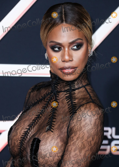 Laverne Cox Photo - WESTWOOD LOS ANGELES CALIFORNIA USA - NOVEMBER 11 Actress Laverne Cox wearing Hakan Akkaya arrives at the Los Angeles Premiere Of Columbia Pictures Charlies Angels held at the Westwood Regency Theater on November 11 2019 in Westwood Los Angeles California United States (Photo by Xavier CollinImage Press Agency)