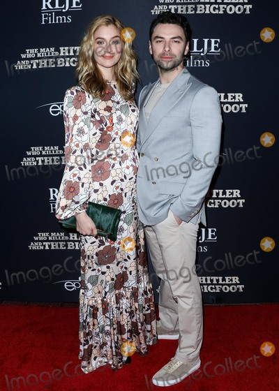Aidan Turner Photo - HOLLYWOOD LOS ANGELES CA USA - FEBRUARY 04 Actress Caitlin Fitzgerald and boyfriend Aidan Turner arrive at the Los Angeles Premiere Of RLJE Films The Man Who Killed Hitler And Then Bigfoot held at ArcLight Cinemas Hollywood on February 4 2019 in Hollywood Los Angeles California United States (Photo by David AcostaImage Press Agency)