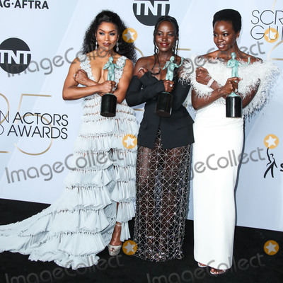 Angela Basset Photo - LOS ANGELES CA USA - JANUARY 27 Angela Basset Lupita Nyongo and Danai Gurira pose in the press room at the 25th Annual Screen Actors Guild Awards held at The Shrine Auditorium on January 27 2019 in Los Angeles California United States (Photo by Xavier CollinImage Press Agency)