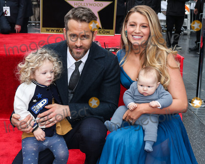 Blake Lively Photo - (FILE) Ryan Reynolds And Blake Lively Donate 400000 to New York Hospitals Amid Coronavirus COVID-19 Pandemic They are reportedly donating 100000 each to Elmhurst NYU Hospital Mount Sinai and Northern Westchester HOLLYWOOD LOS ANGELES CALIFORNIA USA - DECEMBER 15 Actor Ryan Reynolds and wifeactress Blake Lively pose with daughters James Reynolds and Inez Reynolds at a ceremony honoring Ryan Reynolds with a star on the Hollywood Walk of Fame - Dedication of the 2596th star on the Walk of Fame in the category of Motion Pictures on December 15 2015 in Hollywood Los Angeles California United States (Photo by Xavier CollinImage Press Agency)