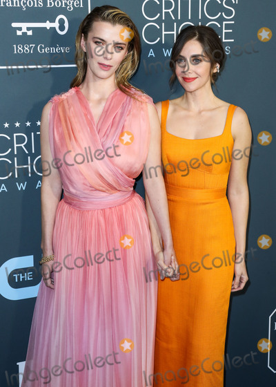 Alison Brie Photo - SANTA MONICA LOS ANGELES CALIFORNIA USA - JANUARY 12 Betty Gilpin and Alison Brie arrive at the 25th Annual Critics Choice Awards held at the Barker Hangar on January 12 2020 in Santa Monica Los Angeles California United States (Photo by Xavier CollinImage Press Agency)