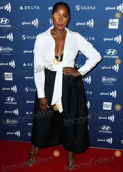 Ashley Blaine Photo - BEVERLY HILLS LOS ANGELES CALIFORNIA USA - MARCH 28 Ashley Blaine Featherson arrives at the 30th Annual GLAAD Media Awards held at The Beverly Hilton Hotel on March 28 2019 in Beverly Hills Los Angeles California United States (Photo by Xavier CollinImage Press Agency)