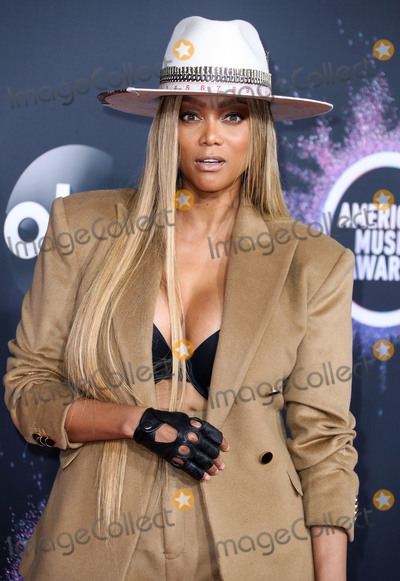 Tyra Banks Photo - LOS ANGELES CALIFORNIA USA - NOVEMBER 24 Tyra Banks arrives at the 2019 American Music Awards held at Microsoft Theatre LA Live on November 24 2019 in Los Angeles California United States (Photo by Xavier CollinImage Press Agency)