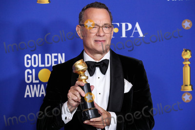 Cecil B DeMille Photo - (FILE) Tom Hanks and Rita Wilson Test Positive for Coronavirus COVID-19 Tom Hanks and Rita Wilson have announced on Wednesday March 11 2020 that they have tested positive for COVID-19 (Coronavirus) the first celebrities to go public with a diagnosis BEVERLY HILLS LOS ANGELES CALIFORNIA USA - JANUARY 05 Actor Tom Hanks winner of the Cecil B Demille Award poses in the press room during the 77th Annual Golden Globe Awards held at The Beverly Hilton Hotel on January 5 2020 in Beverly Hills Los Angeles California United States (Photo by Xavier CollinImage Press Agency)