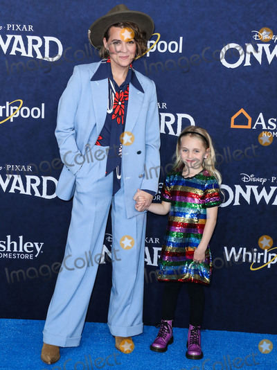 Brandy Photo - HOLLYWOOD LOS ANGELES CALIFORNIA USA - FEBRUARY 18 Singer Brandi Carlile and daughter Evangeline Ruth Carlile arrive at the World Premiere Of Disney And Pixars Onward held at the El Capitan Theatre on February 18 2020 in Hollywood Los Angeles California United States (Photo by Xavier CollinImage Press Agency)