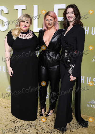 Ann Hathaway Photo - HOLLYWOOD LOS ANGELES CALIFORNIA USA - MAY 08 Rebel Wilson Meghan Trainor and Anne Hathaway arrive at the Los Angeles Premiere Of MGMs The Hustle held at ArcLight Cinerama Dome on May 8 2019 in Hollywood Los Angeles California United States (Photo by David AcostaImage Press Agency)