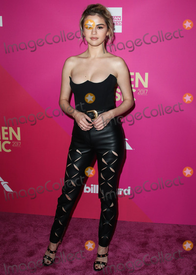 Gomez Photo - (FILE) Selena Gomez Makes Big Donation to Cedars-Sinai Amid Coronavirus COVID-19 Pandemic Health Crisis Selena Gomez is making a major donation to Cedars-Sinai HOLLYWOOD LOS ANGELES CALIFORNIA USA - NOVEMBER 30 Singer Selena Gomez wearing Versace arrives at the Billboard Women In Music 2017 held at The Ray Dolby Ballroom at the Hollywood and Highland Center on November 30 2017 in Hollywood Los Angeles California United States (Photo by Xavier CollinImage Press Agency)