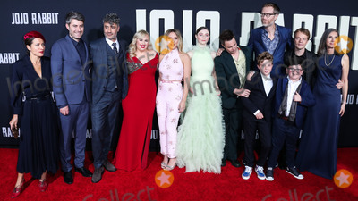 Archie Yate Photo - HOLLYWOOD LOS ANGELES CALIFORNIA USA - OCTOBER 15 Chelsea Cohen Carthew Neal Taika Waititi Rebel Wilson Scarlett Johansson Thomasin McKenzie Sam Rockwell Stephen Merchant Roman Griffin Davis Archie Yates Alfie Allen and Christine Leunens arrive at the Los Angeles Premiere Of Fox Searchlights Jojo Rabbit held at the Hollywood American Legion Post 43 on October 15 2019 in Hollywood Los Angeles California United States (Photo by David AcostaImage Press Agency)