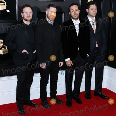 Andy Hurley Photo - LOS ANGELES CA USA - FEBRUARY 10 Patrick Stump Andy Hurley Pete Wentz and Joe Trohman of Fall Out Boy arrive at the 61st Annual GRAMMY Awards held at Staples Center on February 10 2019 in Los Angeles California United States (Photo by Xavier CollinImage Press Agency)
