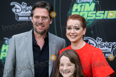 Alexis Denisof Photo - NORTH HOLLYWOOD LOS ANGELES CA USA - FEBRUARY 12 Alyson Hanningan Alexis Denisof and Satyana Marie Denisof arrive at the Los Angeles Premiere Of Disney Channels Kim Possible held at the Saban Media Center at the Television Academy on February 12 2019 in North Hollywood Los Angeles California United States (Photo by Xavier CollinImage Press Agency)