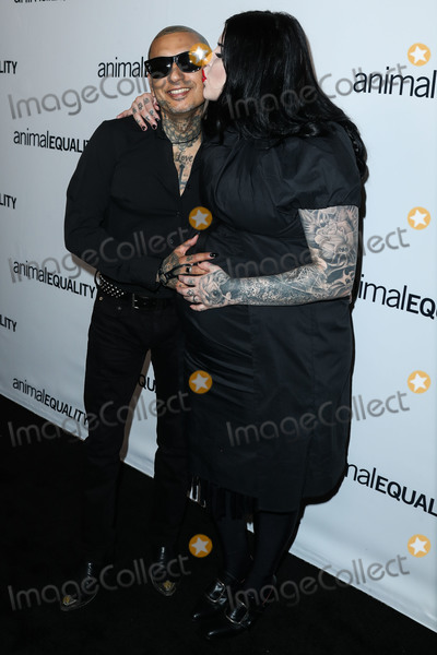 Kat Von D Photo - BEVERLY HILLS LOS ANGELES CA USA - OCTOBER 27 Rafael Reyes Kat Von D at the Animal Equalitys Inspiring Global Action Los Angeles Gala 2018 held at The Beverly Hilton Hotel on October 27 2018 in Beverly Hills Los Angeles California United States (Photo by Xavier CollinImage Press Agency)