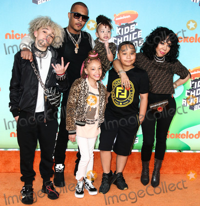 Clifford Joseph Harris Jr Photo - LOS ANGELES CA USA - MARCH 23 TI Clifford Joseph Harris Jr Tiny Harris Tameka Cottle Major Philant Harris Leyah Amore Harris Heiress Diana Harris and T I III arrive at Nickelodeons 2019 Kids Choice Awards held at the USC Galen Center on March 23 2019 in Los Angeles California United States (Photo by Xavier CollinImage Press Agency)