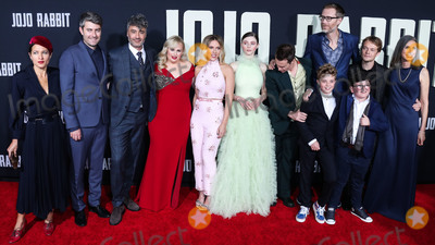 Alfie Allen Photo - HOLLYWOOD LOS ANGELES CALIFORNIA USA - OCTOBER 15 Chelsea Cohen Carthew Neal Taika Waititi Rebel Wilson Scarlett Johansson Thomasin McKenzie Sam Rockwell Stephen Merchant Roman Griffin Davis Archie Yates Alfie Allen and Christine Leunens arrive at the Los Angeles Premiere Of Fox Searchlights Jojo Rabbit held at the Hollywood American Legion Post 43 on October 15 2019 in Hollywood Los Angeles California United States (Photo by David AcostaImage Press Agency)
