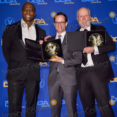 Andy Fisher Photo - LOS ANGELES CALIFORNIA USA - JANUARY 25 Terry Crews Andy Fisher and James Burrows pose in the press room at the 72nd Annual Directors Guild Of America Awards held at The Ritz-Carlton Hotel at LA Live on January 25 2020 in Los Angeles California United States (Photo by Image Press Agency)