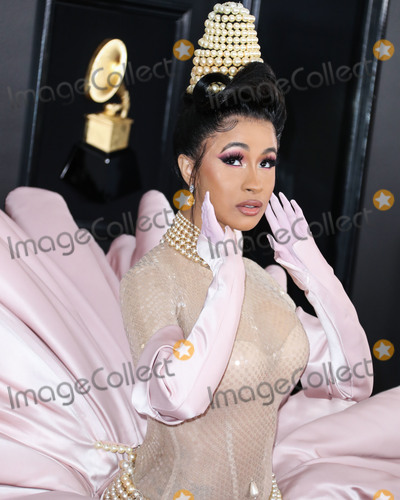 Grammy Awards Photo - (FILE) Cardi B And Fashion Nova Are Giving Away 1000 Per Hour Amid Coronavirus COVID-19 Pandemic Fashion Nova and Cardi B are donating 1000 every hour for the next 42 days until theyve given away 1 million to those affected by the coronavirus pandemic LOS ANGELES CALIFORNIA USA - FEBRUARY 10 Singer Cardi B (Belcalis Marlenis Almanzar) wearing Mugler with Gismondi1754 jewelry arrives at the 61st Annual GRAMMY Awards held at Staples Center on February 10 2019 in Los Angeles California United States (Photo by Xavier CollinImage Press Agency)