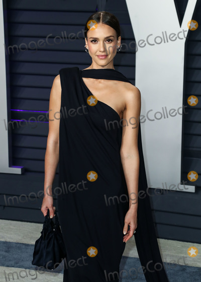 Narciso Rodriguez Photo - BEVERLY HILLS LOS ANGELES CA USA - FEBRUARY 24 Actress Jessica Alba wearing a Narciso Rodriguez dress Jimmy Choo shoes Ana Khouri jewelry and a The Row bag arrives at the 2019 Vanity Fair Oscar Party held at the Wallis Annenberg Center for the Performing Arts on February 24 2019 in Beverly Hills Los Angeles California United States (Photo by Xavier CollinImage Press Agency)