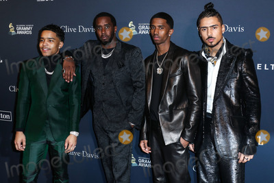 Diddy Combs Photo - BEVERLY HILLS LOS ANGELES CALIFORNIA USA - JANUARY 25 Christian Casey Combs Sean Diddy Combs Justin Dior Combs and Quincy Taylor Brown arrive at The Recording Academy And Clive Davis 2020 Pre-GRAMMY Gala held at The Beverly Hilton Hotel on January 25 2020 in Beverly Hills Los Angeles California United States (Photo by Xavier CollinImage Press Agency)