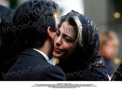 As Yet Photo - IMAPRESS PH  BENITO  CLEMOTFUNERAL OF PRINCESS LEILA PAHLAVI IN PARIS 16TH JUNE 2001 IN TOTAL BEREAVEMENT THE EX-EMPRESS OF IRAN FARAH PAHLAVI BURIED HER DAUGHTER IN THE PASSY CEMETERY IN PARIS LEILA PAHLAVI 31 PASSED AWAY A WEEK AGO IN LONDON THE OFFICIAL COMMUNIQUE WRITTEN BY HER MOTHER INDICATED THAT SHE PASSED AWAY IN HER SLEEP BUT THE EXACT CIRCUMSTANCES OF THE DEACEASED REMAIN AS YET UNKNOWNPRINCESS FARAHNAZ LEILAS SISTER RECEIVES COMFORT FROM A MOURNERCREDIT IMAPRESSCLEMOTBENITOGLOBE PHOTOS INC