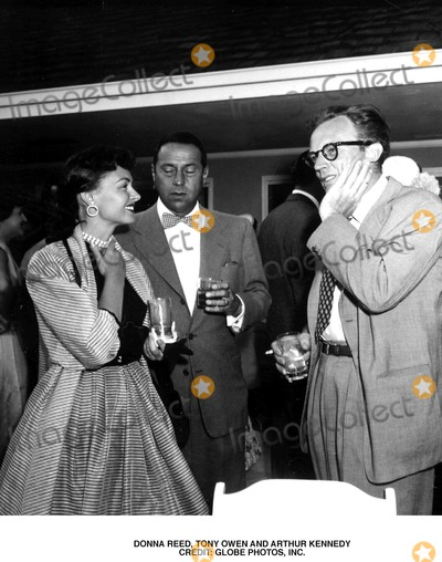Donna Reed Photo - Donna Reed Tony Owen and Arthur Kennedy Credit Globe Photos Inc
