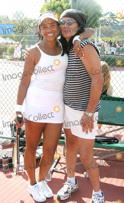 Native Wayne Jobson Photo - Racquet Rumble 2004 Celebrity Tennis Tournament to Benefit the Bogart Pediatric Cancer Research Program at Riviera Tennis Club Pacific Palisades CA (092604) Photo by ClintonhwallaceipolGlobe Photos Inc2004 Rae Dawn Chong and Native Wayne Jobson