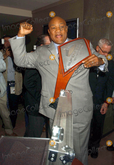 George Foreman Photo - Superfighter Press Conference Soho Grand Hotel New York City 05-22-2006 Photo by Ken Babolcsay-ipol-Globe Photos 2006 George Foreman