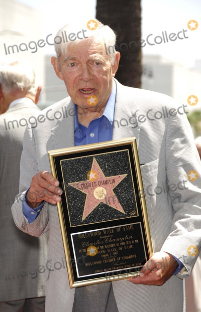 Charles Champlin Photo - Charles Champlin During a Ceremony Honoring Him with a Star on the Hollywood Walk of Fame on August 3 2007 in Los Angeles Photo by Michael Germana-Globe Photosinc