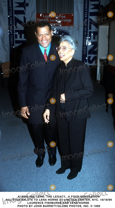 Lena Horne Photo -  Lena the Legacya Four Generation All-star Salute to Lena Horne at Lincoln Center NYC 101899 Laurence Fishburne and Lena Horne Photo by John BarrettGlobe Photos Inc