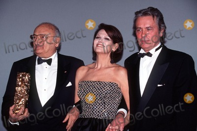 Henri Verneuil Photo - Imapresspierre Hounsfield - 03-03-96- Henri Verneuil Claudia Cardinal Alain Delon Cesars 1996 (the French Director Henri Verneuil Passed Away Today 1112002 at the Age of 81) Credit ImapressGlobe Photos Inc